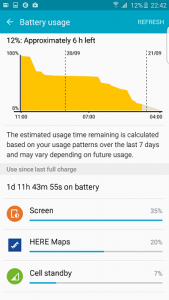 Samsung galaxy s6 edge+ baterijos tarnavimo laikas
