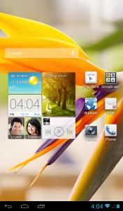 Huawei MediaPad 7 Vogue pradžios ekranas